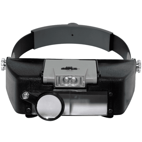 Illuminated LED Binohead Magnifier